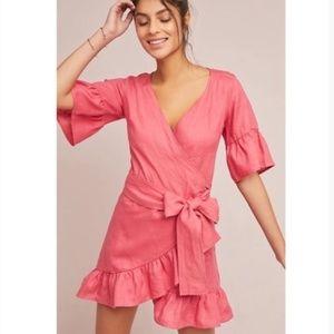 Anthro. 4OUR DREAMERS Talulah Linen Wrap Dress L